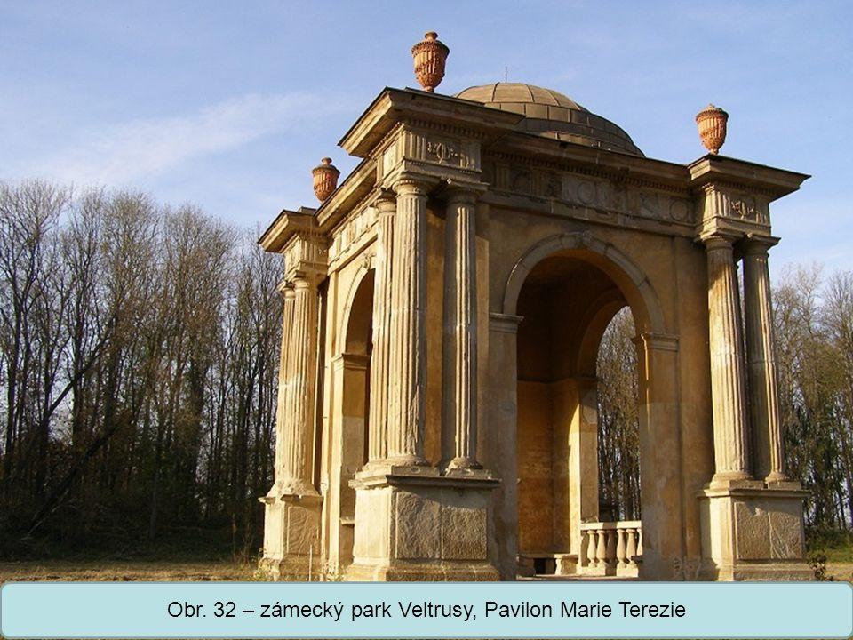 Střední škola Oselce Obr. 32 – zámecký park Veltrusy, Pavilon Marie Terezie