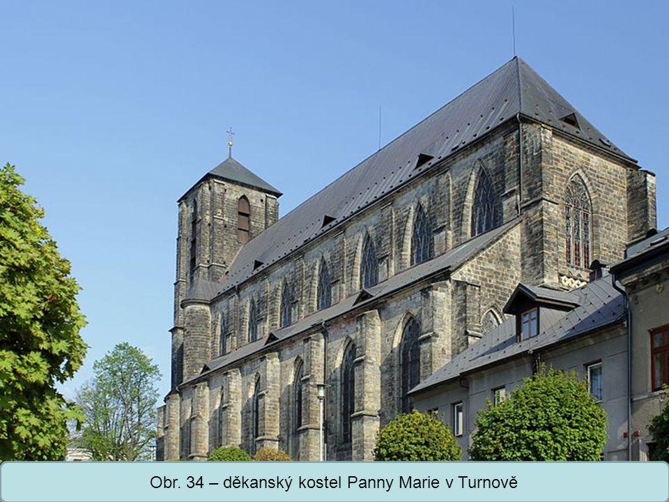 Střední škola Oselce Obr. 34 – děkanský kostel Panny Marie v Turnově