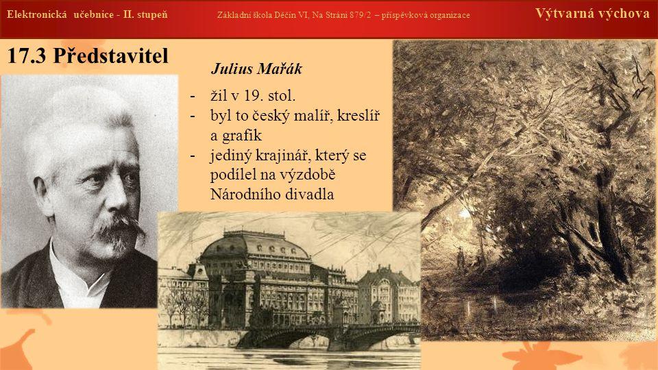 Elektronická učebnice -II. stupeň Základní škola Děčín VI, Na Stráni 879/2 – příspěvková organizace Výtvarná výchova 17.3 Představitel -žil v 19. stol