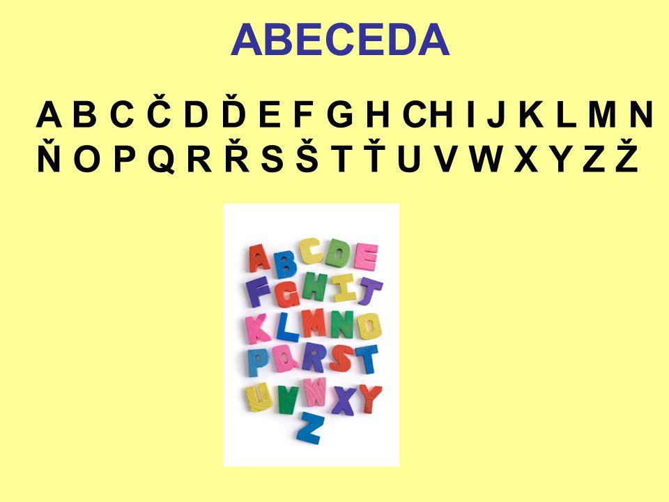 Seřaď názvy zvířat ze ZOO podle abecedy 1.zebra 2.