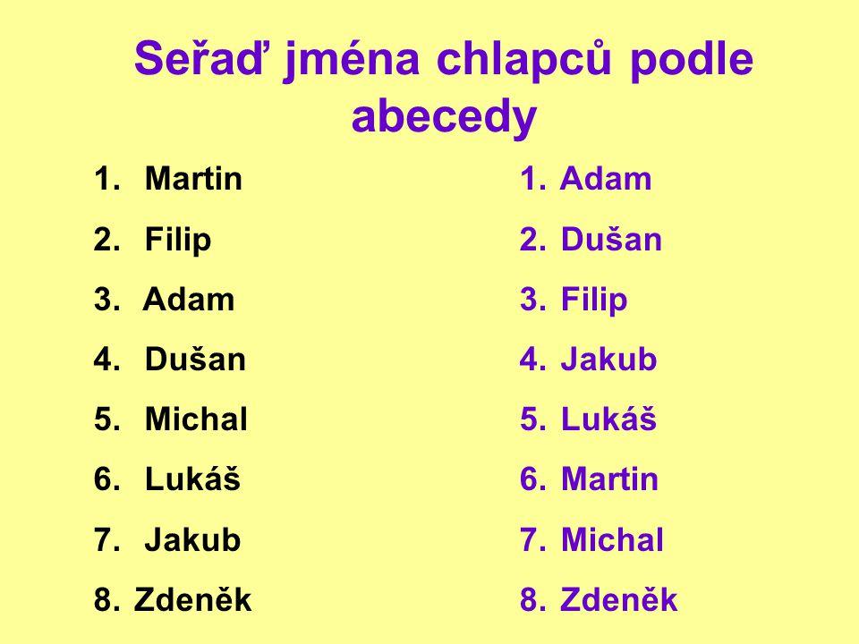 Seřaď názvy rostlin podle abecedy 1.petrklíč 2. bledule 3.
