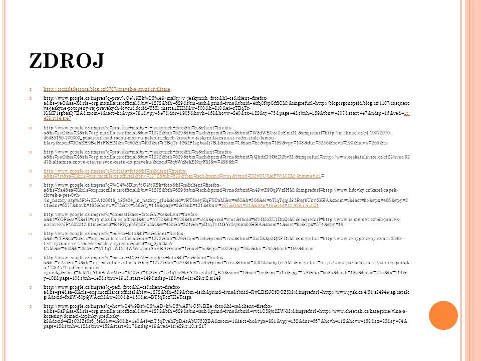 ZDROJ http://corridadetoros.blog.cz/0707/pravek-a-prvni-civilizace http://www.google.cz/imgres?q=prav%C4%9Bk%C3%A9+malby+v+jeskynich+foto&hl=cs&client