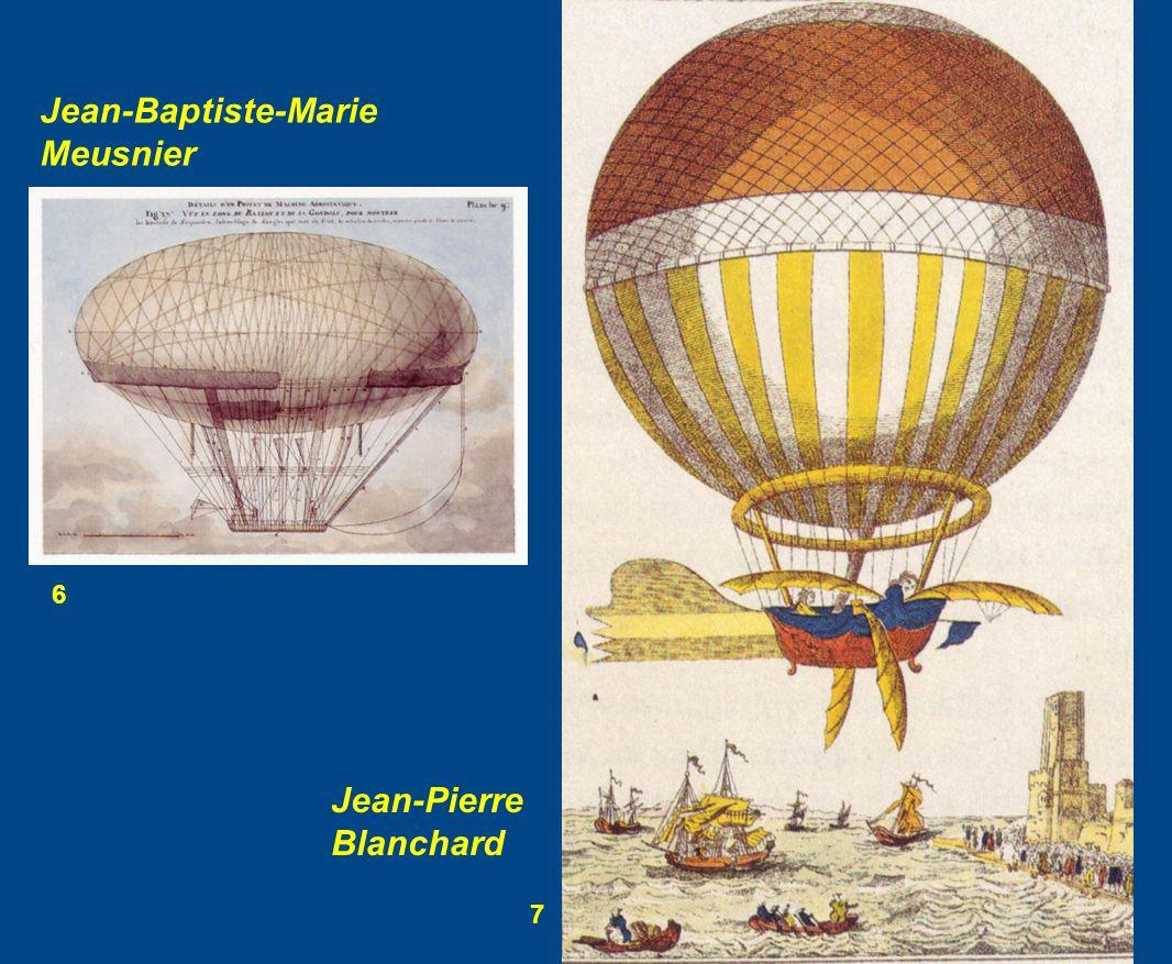 6 7 Jean-Baptiste-Marie Meusnier Jean-Pierre Blanchard