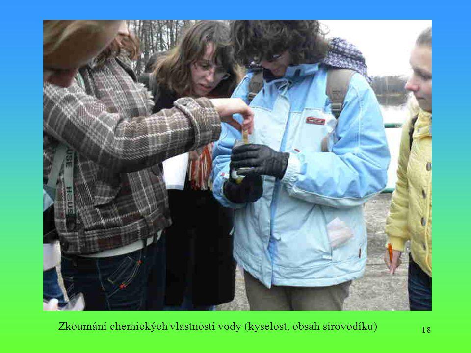 18 Zkoumání chemických vlastností vody (kyselost, obsah sirovodíku)