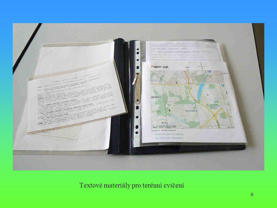 6 Textové materiály pro terénní cvičení