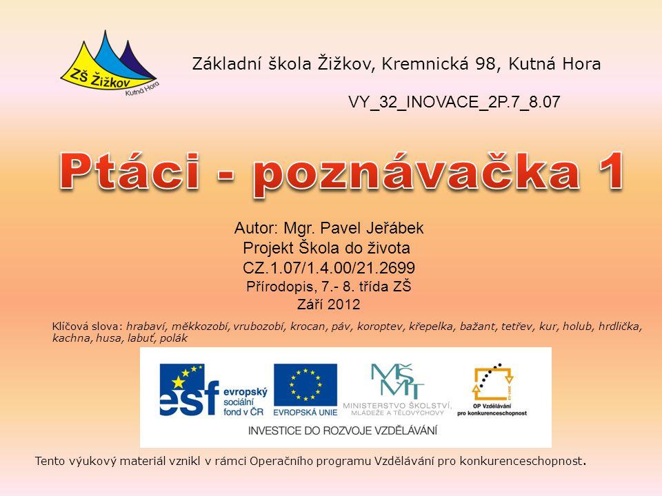 VY_32_INOVACE_2P.7_8.07 Autor: Mgr.
