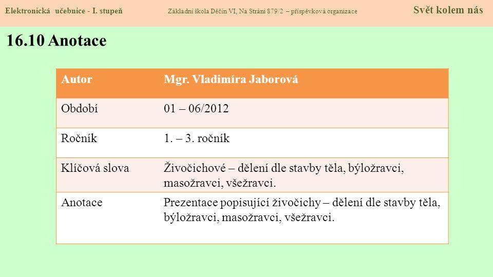 16.9 Použité zdroje, citace Elektronická učebnice - I.