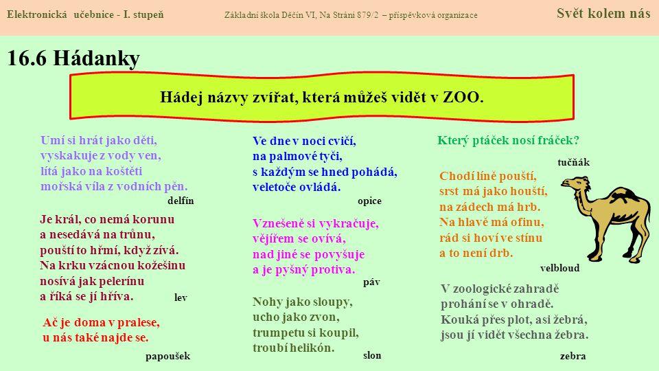 16.5 Procvičení a příklady Elektronická učebnice - I.