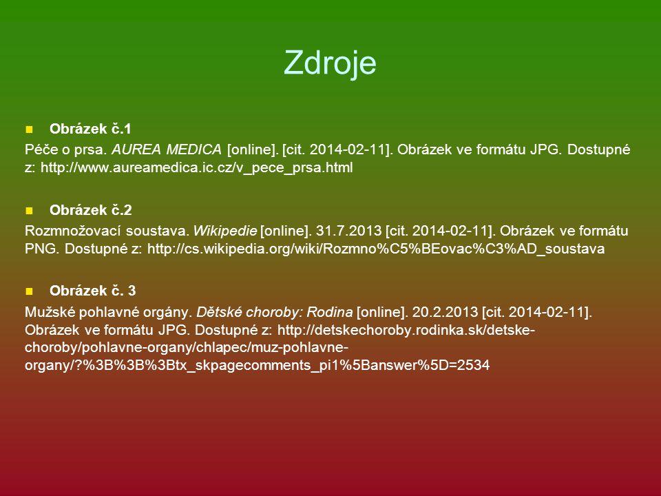 Zdroje Obrázek č.1 Péče o prsa. AUREA MEDICA [online]. [cit. 2014-02-11]. Obrázek ve formátu JPG. Dostupné z: http://www.aureamedica.ic.cz/v_pece_prsa