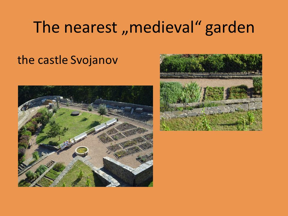 "The nearest ""medieval garden the castle Svojanov"