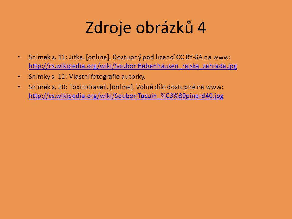 Zdroje obrázků 4 Snímek s. 11: Jitka. [online].