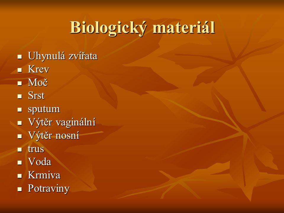 Odběrové nádoby Sterilní Sterilní Vše pro vyšetření mikrobiologická Vše pro vyšetření mikrobiologická Příslušné oddělení dodá Příslušné oddělení dodá Vyšetření vody Vyšetření vody Nesterilní Nesterilní Zkumavky na odběr krve Zkumavky na odběr krve Nádoby na odběr moče Nádoby na odběr moče Zkumavky na odběr mléka na biochemické vyšetření Zkumavky na odběr mléka na biochemické vyšetření