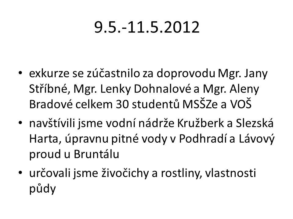 9.5.-11.5.2012 exkurze se zúčastnilo za doprovodu Mgr.