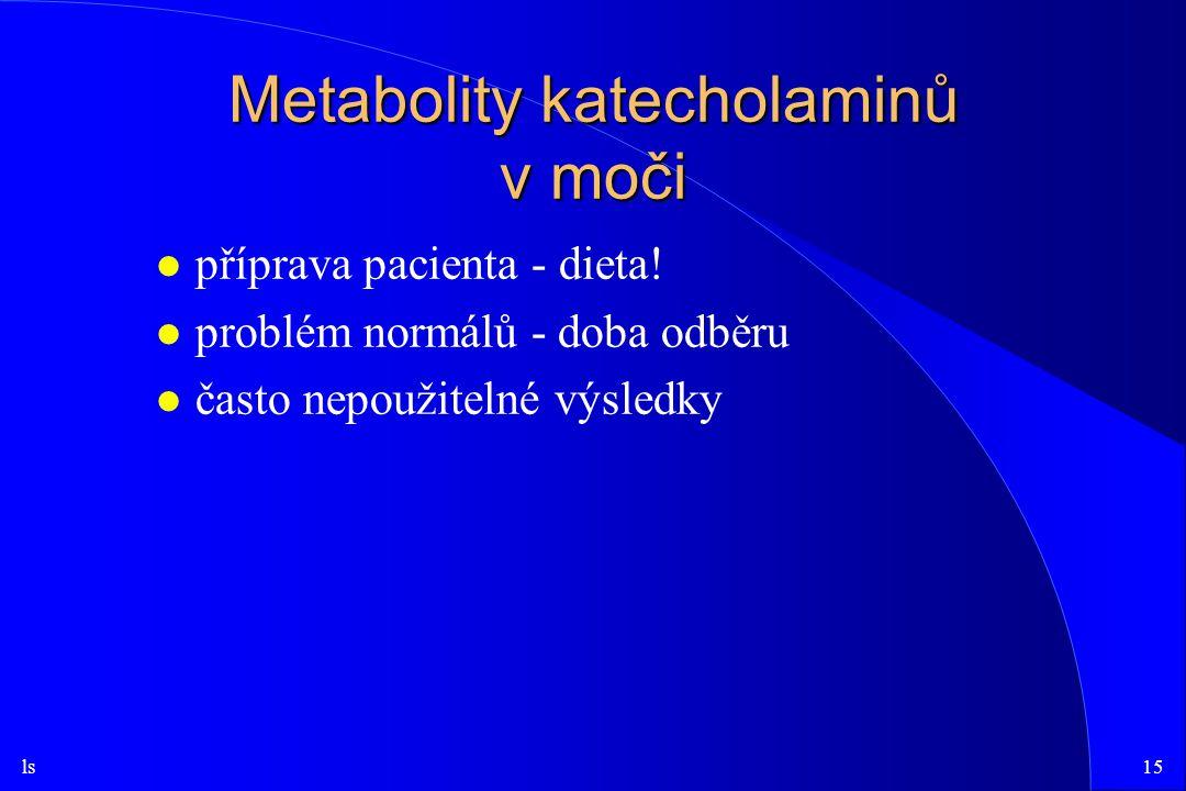ls15 Metabolity katecholaminů v moči l příprava pacienta - dieta.