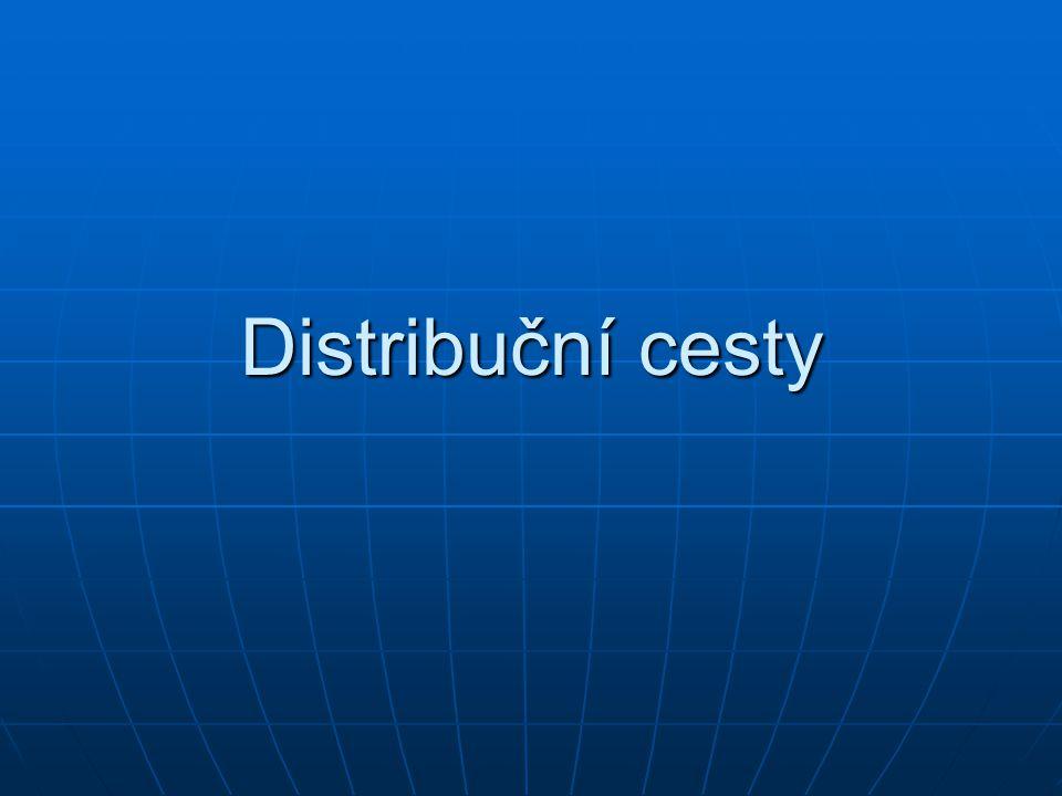 Distribuce Znamená umístění zboží na trhu; soubor postupů a operací, jejichž prostřednictvím se výrobek dostává postupně z místa svého vzniku do místa svého určení, kde bude spotřebován nebo užit.