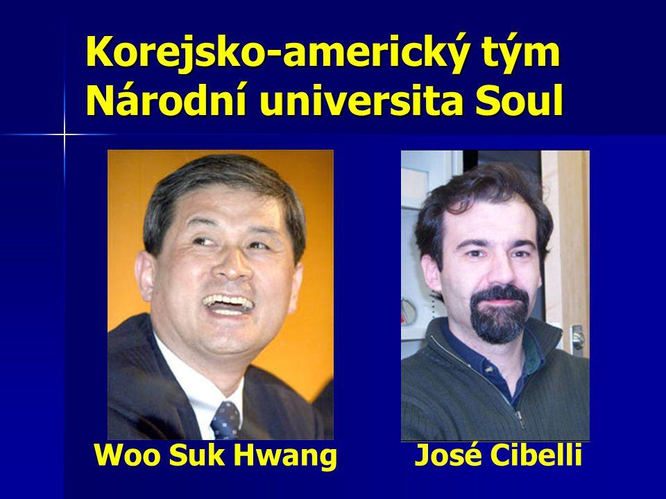 Korejsko-americký tým Národní universita Soul Woo Suk Hwang José Cibelli