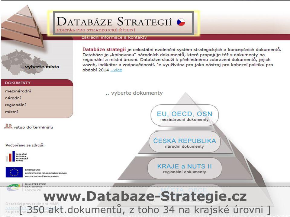 www.Databaze-Strategie.cz [ 350 akt.dokumentů, z toho 34 na krajské úrovni ]