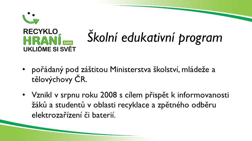Školní edukativní program pořádaný pod záštitou Ministerstva školství, mládeže a tělovýchovy ČR.