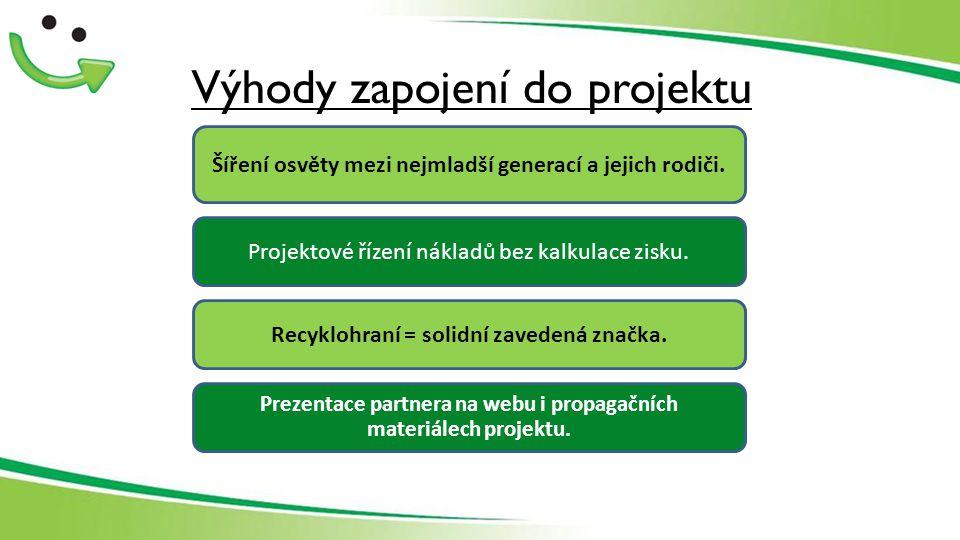 Výhody zapojení do projektu Recyklohraní = solidní zavedená značka.