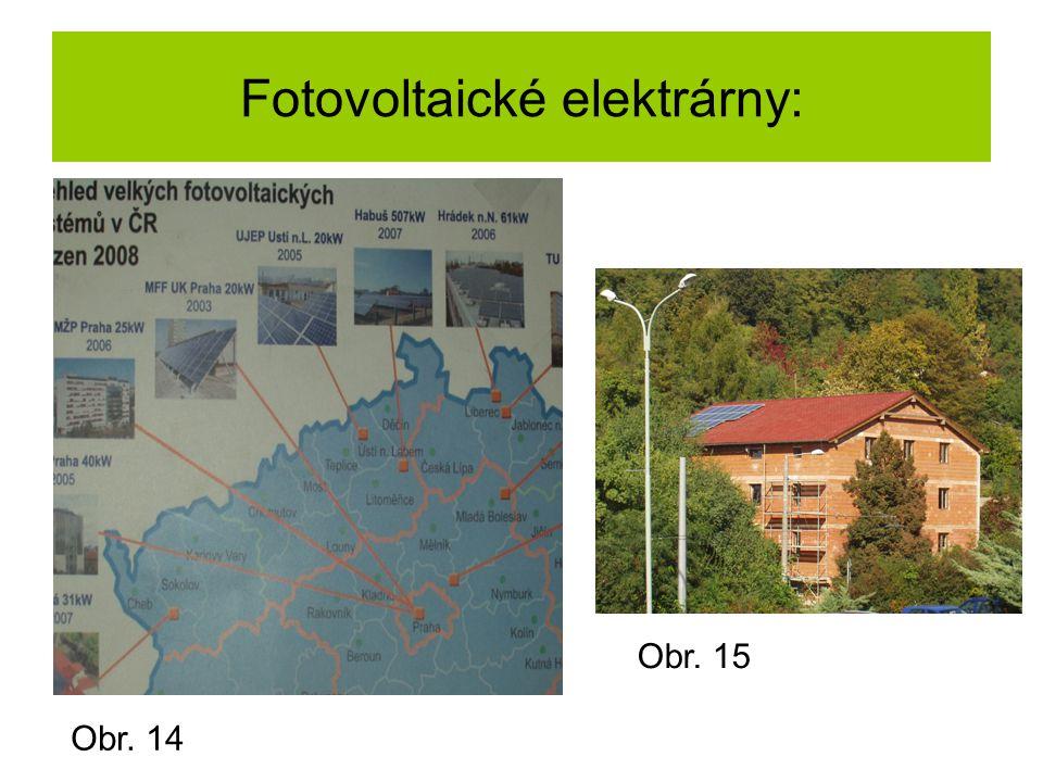 Fotovoltaické elektrárny: Obr. 14 Obr. 15