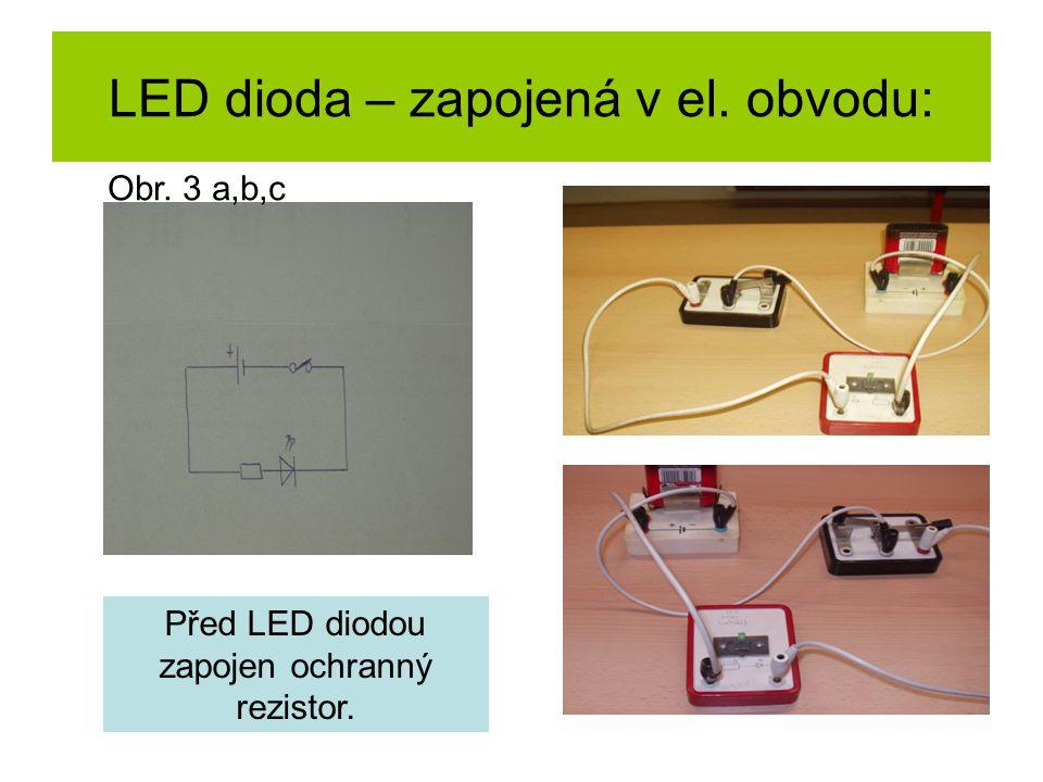 K čemu slouží předřadný rezistor u LED diody.