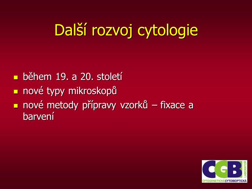Materiál pro cytologická vyšetření Zpracováváme: nátěry z punkcí a sondáží štítné žlázy, plic, slinivky, prsu, stěry děložního čípku nátěry z punkcí a sondáží štítné žlázy, plic, slinivky, prsu, stěry děložního čípku tělní tekutiny – ascity z pleurální dutiny, z dutiny břišní, obsahy různých cyst