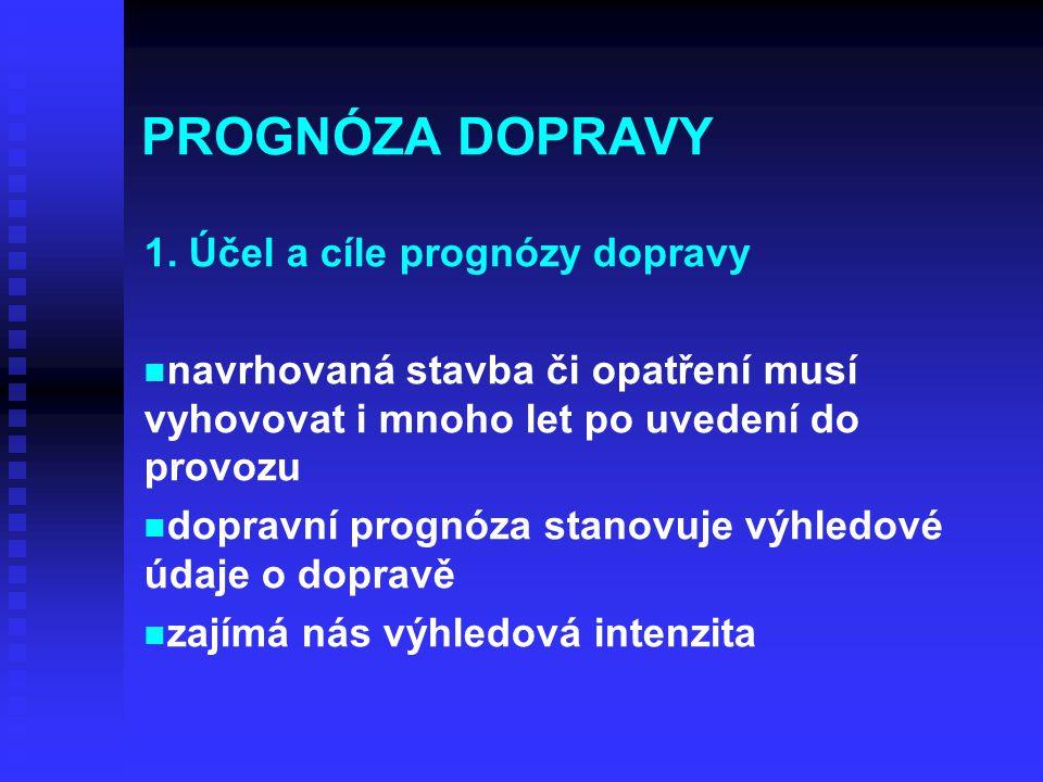 PROGNÓZA DOPRAVY 1.