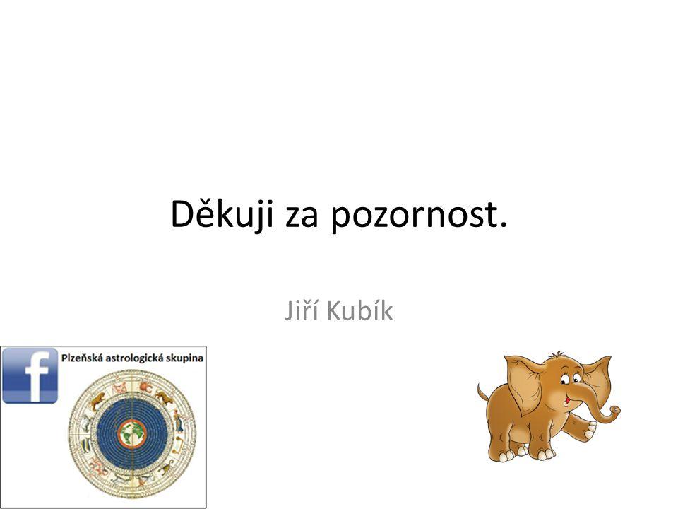 Děkuji za pozornost. Jiří Kubík