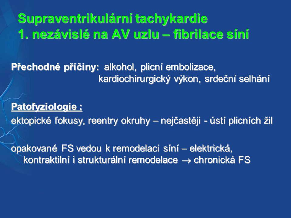Supraventrikulární tachykardie 1.