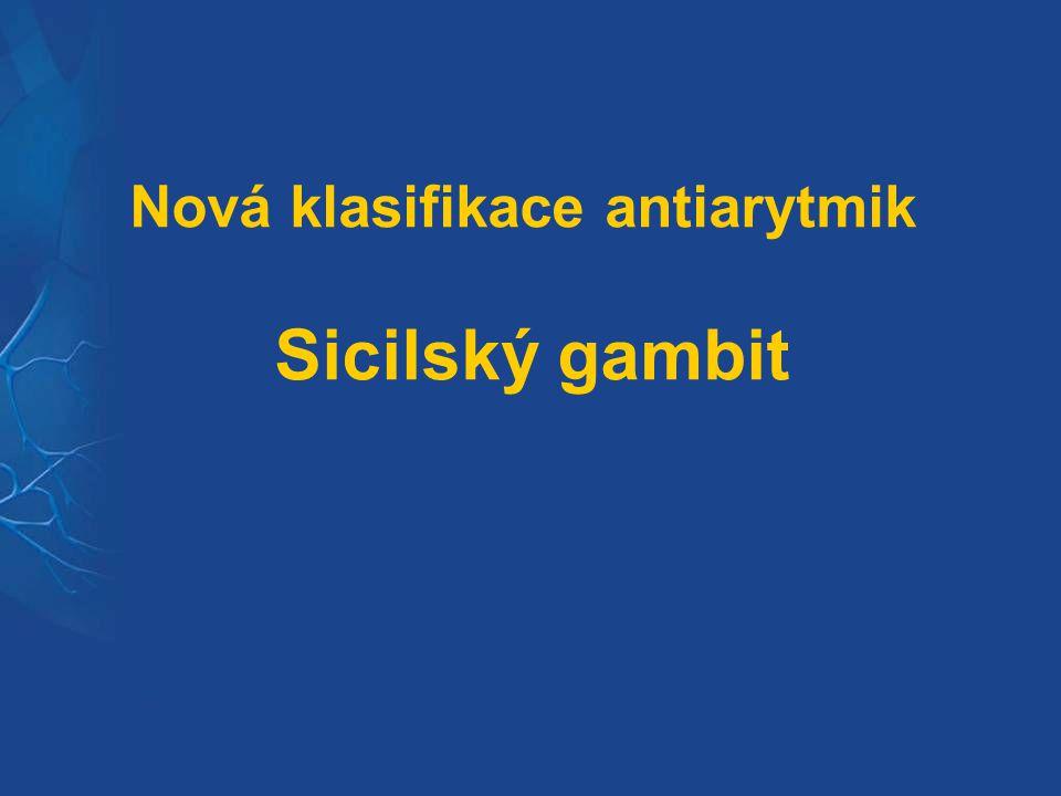 Nová klasifikace antiarytmik Sicilský gambit