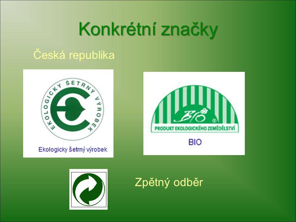 Konkrétní značky Česká republika Zpětný odběr