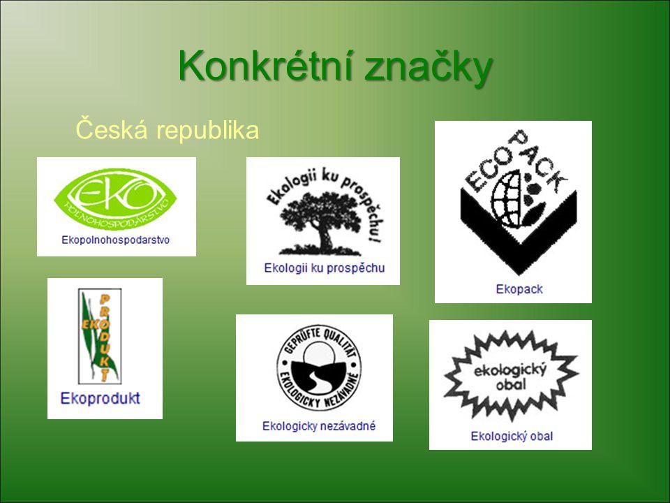 Konkrétní značky Česká republika