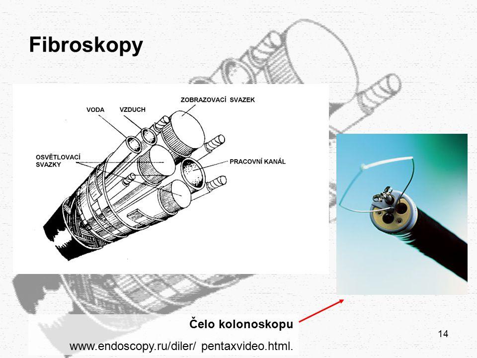 14 Fibroskopy Čelo kolonoskopu www.endoscopy.ru/diler/ pentaxvideo.html.