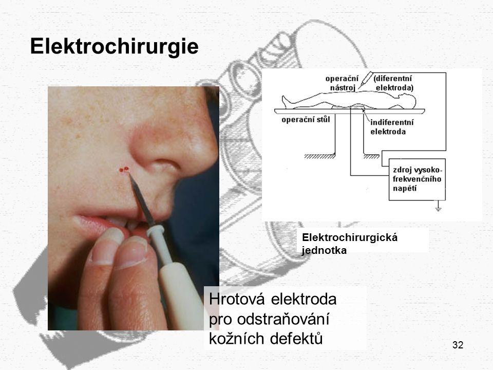 32 Elektrochirurgie Elektrochirurgická jednotka Hrotová elektroda pro odstraňování kožních defektů