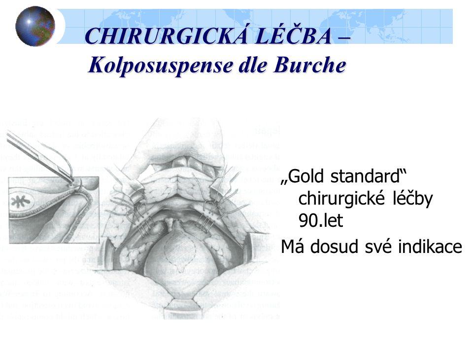 """CHIRURGICKÁ LÉČBA – Kolposuspense dle Burche """"Gold standard chirurgické léčby 90.let Má dosud své indikace"""