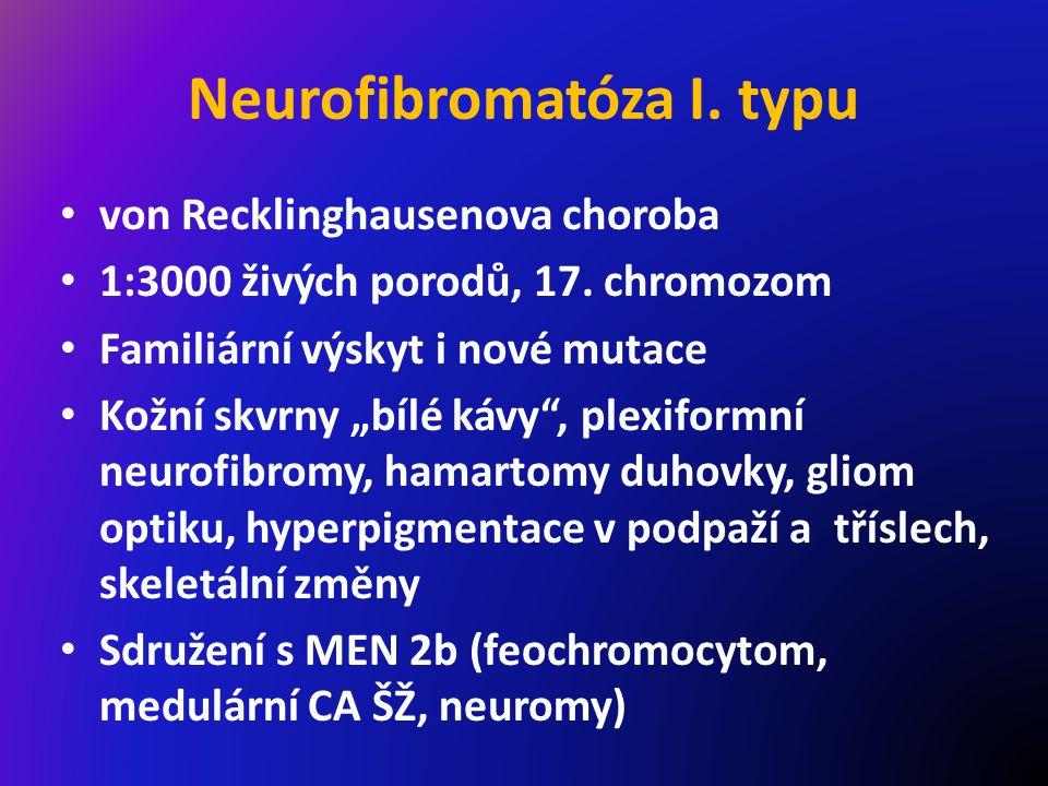 Neurofibromatóza I.typu von Recklinghausenova choroba 1:3000 živých porodů, 17.