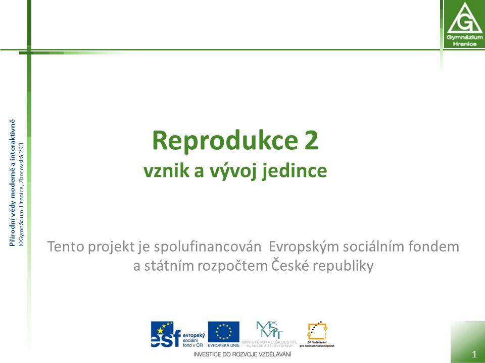 Přírodní vědy moderně a interaktivně ©Gymnázium Hranice, Zborovská 293 Porod Je to proces, kterým se z plodu stává samostatný jedinec.
