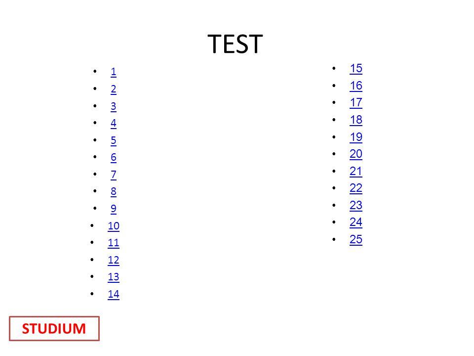 TEST 1 2 3 4 5 6 7 8 9 10 11 12 13 14 15 16 17 18 19 20 21 22 23 24 25 STUDIUM