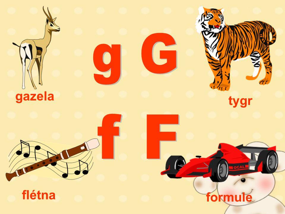 tygr gazela flétna formule