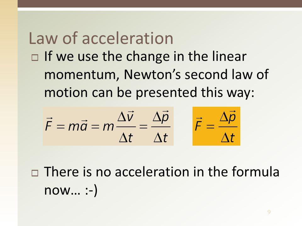 10  How do we define linear momentum.