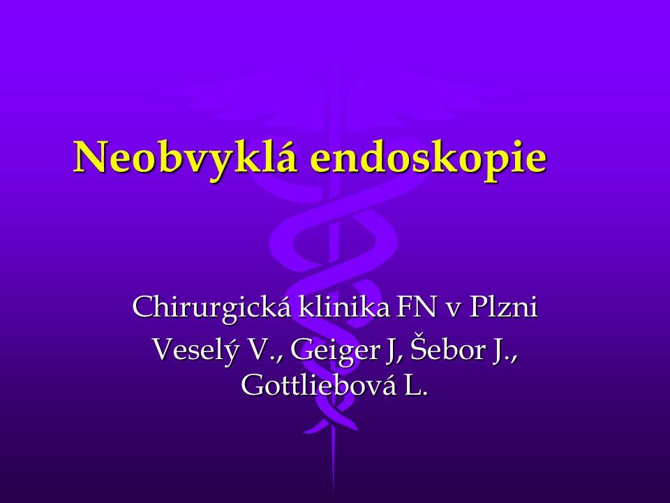 Neobvyklá endoskopie Chirurgická klinika FN v Plzni Veselý V., Geiger J, Šebor J., Gottliebová L.