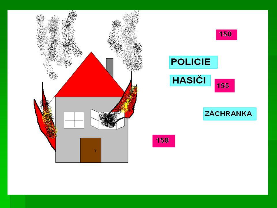  Rozdělení do skupin  každé z dětí si vylosuje lístečkem, na kterém je jedno ze tří čísel 150, 155, 158  učitel zakryje na tabuli správně seřazené cedulky názvů s čísly a ověří si, zda si děti čísla zapamatovaly  úkolem dětí je jít si stoupnout do správného stanoviště (policie, hasič, záchranka), které předem učitel vymezí  nyní se z dětí stávají hasiči, policisti nebo lékaři a v těchto skupinkách budou pracovat.