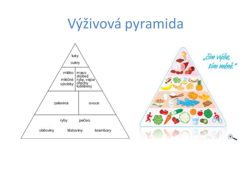 Na pyramidě si vysvětlíme, čeho bychom měli jíst nejvíce, a co naopak omezit.