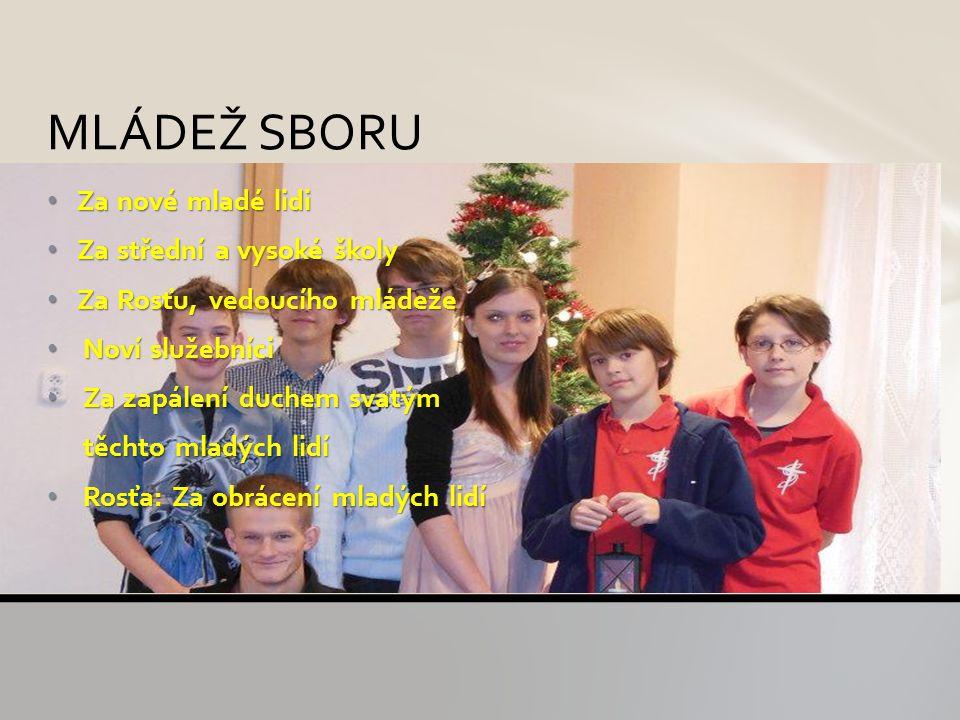 Za Jana Krupu a jeho rodinu, která se bude stěhovat do Prahy Požehnání jeho práci Boží moudrost Požehnání ostatním jeho kolegům Za Tomáše Surovku OBLASTNÍ ŘEDITELSTVÍ