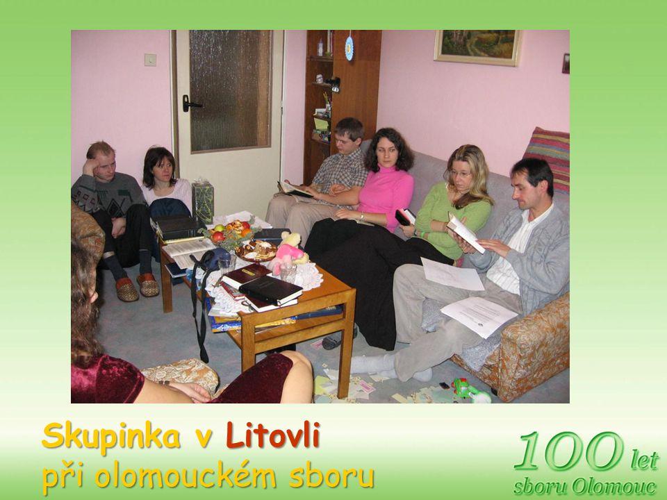 Skupinka v Litovli při olomouckém sboru