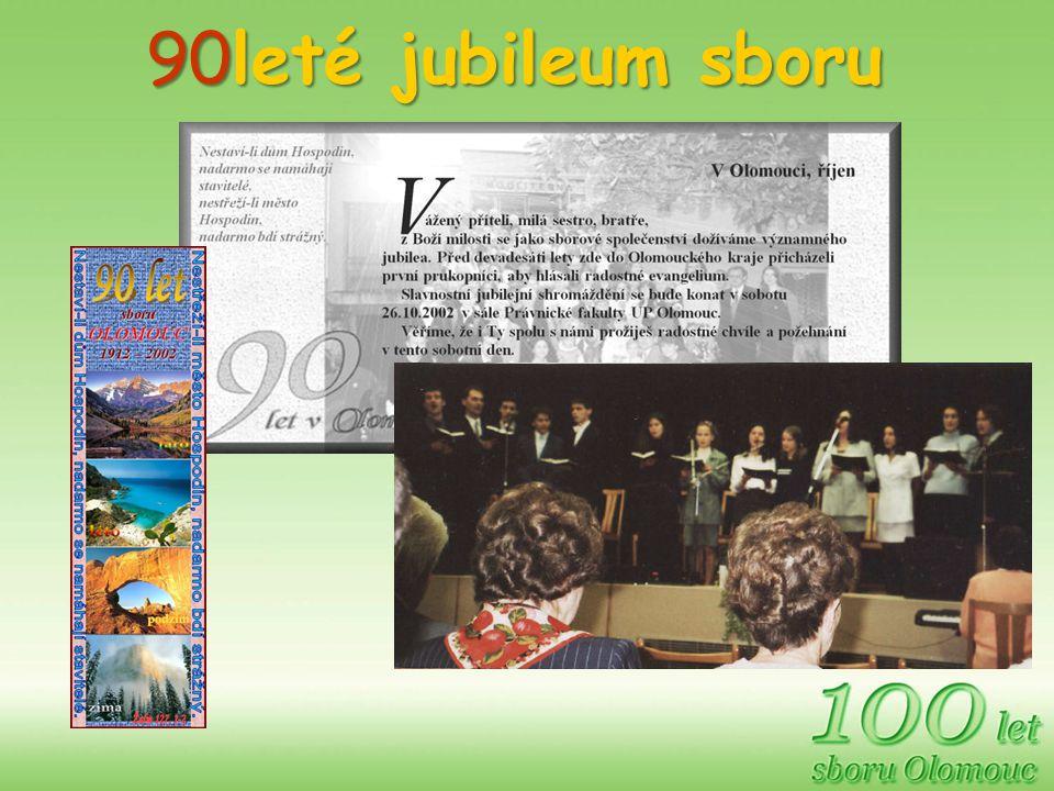 90leté jubileum sboru