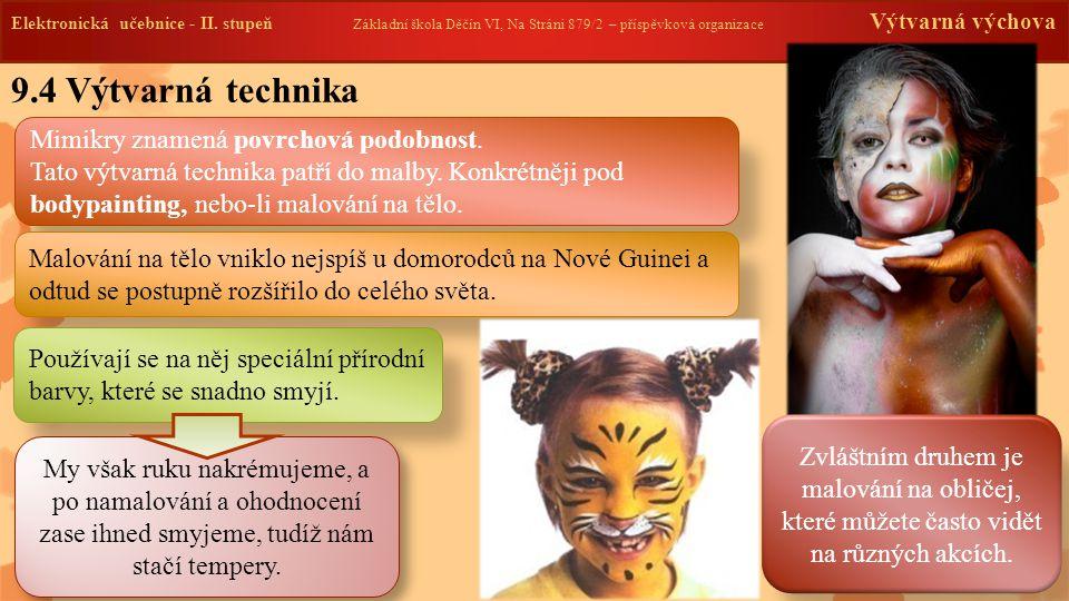 9.4 Výtvarná technika Elektronická učebnice - II.