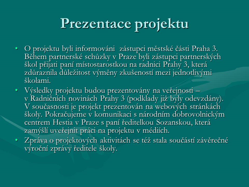 Prezentace projektu O projektu byli informováni zástupci městské části Praha 3.