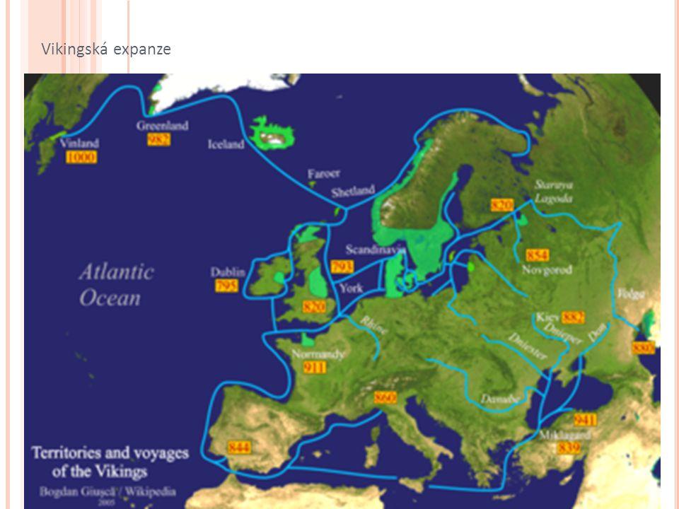 asi 1005: k břehům Severní Ameriky tři lodi s úmyslem Vinland kolonizovat vedoucím výpravy islandský obchodník Thorfin Karlsefni manželka Gudrid legendární postava – porodila chlapce jménem Snorri = první Evropan na americkém území po třech letech návrat na Island