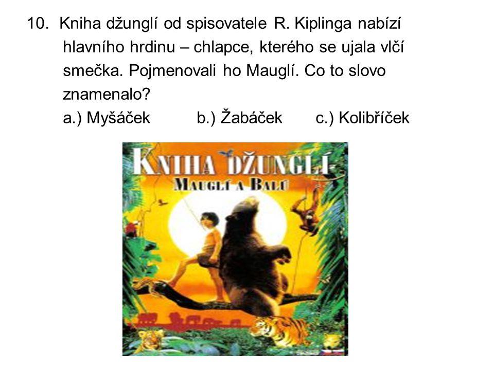 10.Kniha džunglí od spisovatele R.
